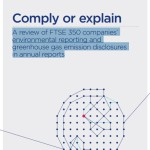 Review pubished of FTSE 350 companies' environmental reporting and GHG emission disclosures in annual reports