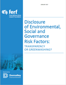 Disclosure of ESG Risk Factors: Transparency or Greenwashing?