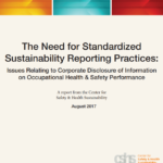 CSHS study supports standardization of sustainability reporting to improve workplace safety