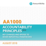 AccountAbility Releases Document on Key Changes Introduced in the AA1000AP (2018) and Bridge to Sustainability Reporting